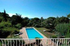Villa Bambous Ferienhaus in Sainte Maxime Côte d'Azur Südfrankreich-Pool und Garten