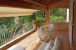 Balkon zum Garten Ferienvilla Bambous mit Pool in Sainte-Maxime