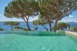 Villa Cactus 2 in Sainte Maxime an der Cote d'Azur. Blick vom Pool auf den Golf von St. Tropez