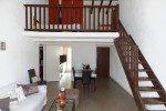 Wohnzimmer, Küche, Essecke und Zwischengeschoß Ferienwohnung Castillon in Les Issambres