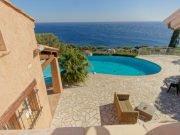 Blick vom oberen Schlafzimmer 1 auf Terrasse, Pool und Meer der Villa Ma France in Les Issambres an der Cote d'Azur