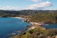 Escalet Cap Taillat Blick auf Bastide Blanche und Strand