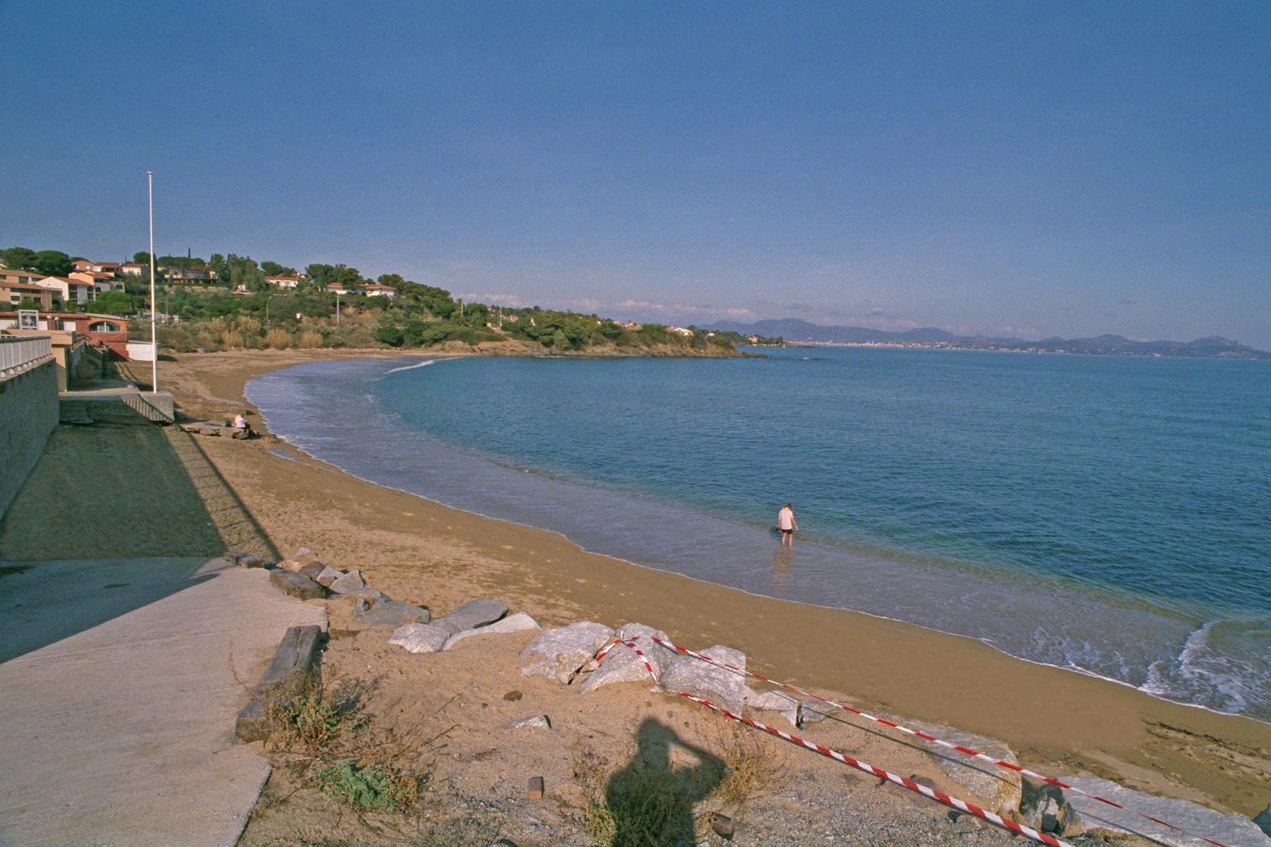 Der Strand La Gaillarde in Südfrankreich