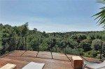 Villa Garennes Ferienhaus in Les Issambres Côte d'Azur Südfrankreich-Blick von der Pool-Terrasse