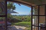 Villa Garennes Ferienhaus in Les Issambres Côte d'Azur Südfrankreich-Blick vom Wohnzimmer auf Terrasse, Garten und Meer