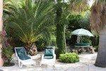 Latour Ferienhaus in Les Issambres Côte d'Azur Südfrankreich-Palmen, Garten und Terrasse
