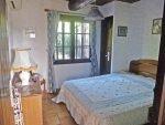 Schlafzimmer 1 im ersten Stock des des Ferienhauses Lavandes in Les Issambres an der Cote d'Azur in Südfrankreich