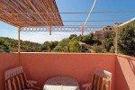 Blick vom Balkon der Wohnung 1 im Haus Levellier in Les Issambres an der Cote d Azur