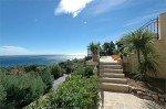 Villa Ligurienne Ferienhaus in Les Issambres Côte d'Azur Südfrankreich-Terrasse und Blick aufs Meer