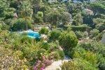 Mediterrane Pflanzen im Garten des Hauses Lorelyn an der Cote d Azur in Südfrankreich