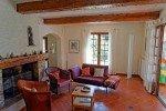 Lorelyn Ferienhaus in Les Issambres Côte d'Azur Südfrankreich-Wohnraum mit Kamin