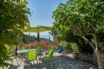 Obere Terrasse mit Feigenbaum des Hauses Lorelyn an der Cote d Azur in Südfrankreich