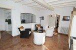 Pastourelle Ferienhaus in Les Issambres Côte d'Azur Südfrankreich-Sitzecke und Küche