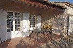 Pastourelle Ferienhaus in Les Issambres Côte d'Azur Südfrankreich-überdachte Terrasse