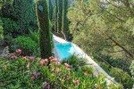 Ricoulette Ferienhaus in Les Issambres Côte d'Azur Südfrankreich-Blick auf die Poolterrasse