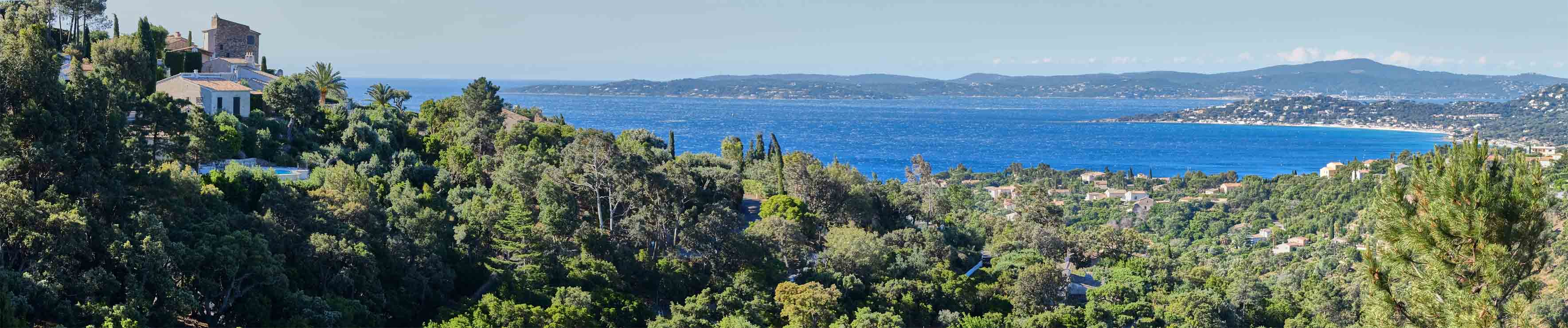 Ricoulette- Blick nach Süden auf den Golf von St. Tropez