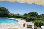 Villa Rigaou Ferienhaus in Sainte Maxime Côte d'Azur Südfrankreich-Blick von der Terrasse
