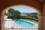 Villa Rigaou Ferienhaus in Sainte Maxime Côte d'Azur Südfrankreich-Blick vom oberen Balkon