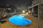 beleuchteter Pool bei Nacht Ferienhaus Triton G in Les Issambres an der Cote d Azur