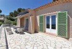 Villa Aurelia Ferienhaus in Les Issambres Côte d'Azur Südfrankreich-Haus und Terrasse mit Meerblick