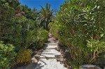 Villa Aurelia Ferienhaus in Les Issambres Côte d'Azur Südfrankreich-Stufen zum Pool Palmen Oleander Garten