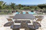 Villa Aurelia Ferienhaus in Les Issambres Côte d'Azur Südfrankreich-Terrasse mit Panoramablick auf Meer Pool und Garten