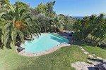 Villa Garennes Ferienhaus in Les Issambres Côte d'Azur Südfrankreich-Blick vom Balkon auf Pool, Garten und Meer
