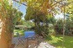 Villa Garennes Ferienhaus in Les Issambres Côte d'Azur Südfrankreich-Küchenterrasse und Garten